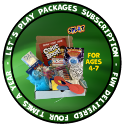 Let's Play Package box showing sample of what is included