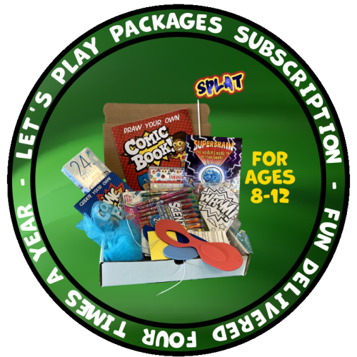 Lets Play Package box showing sample of what is included
